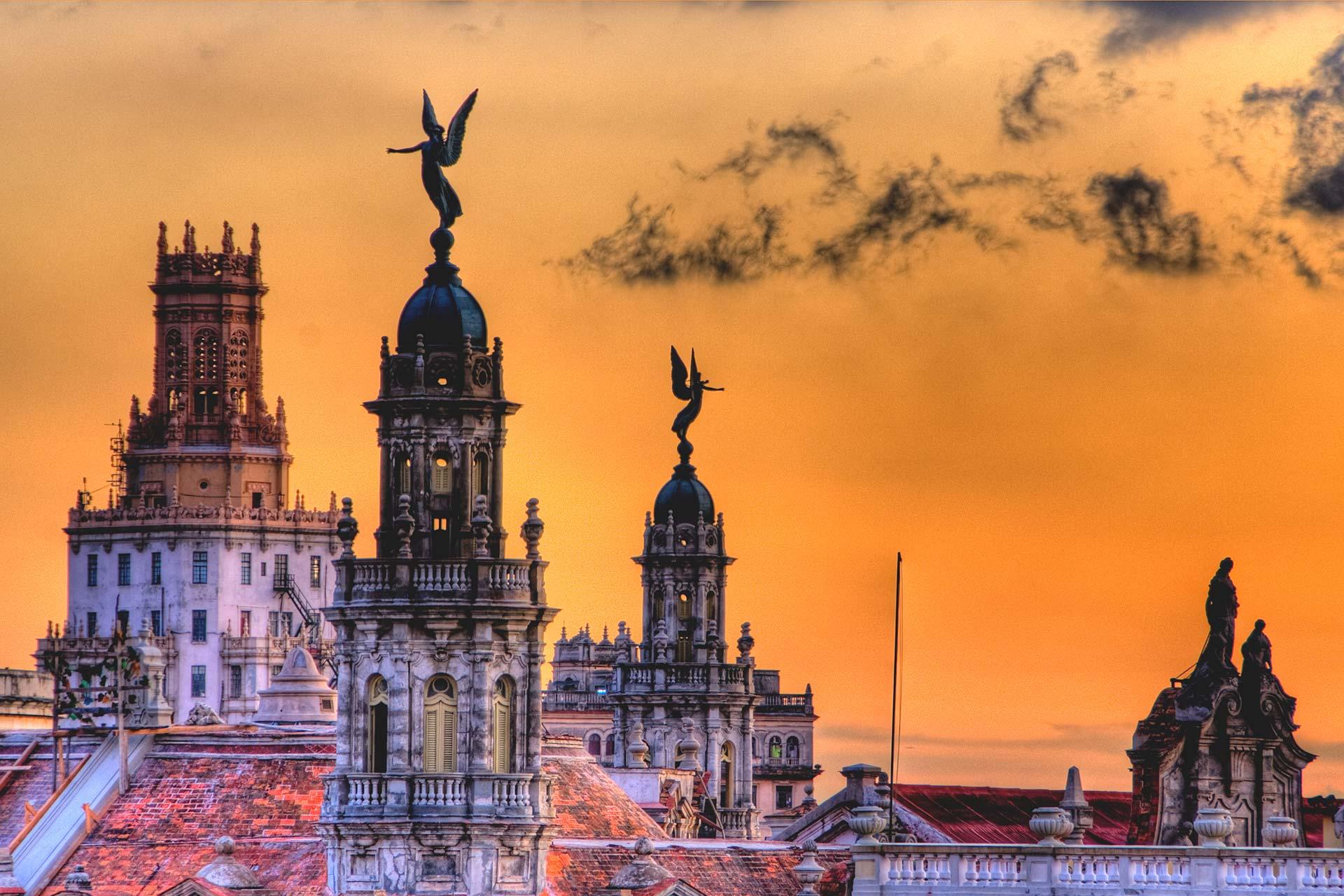 Reisefotografie - Postkarten - Himmel über Havanna, Kuba