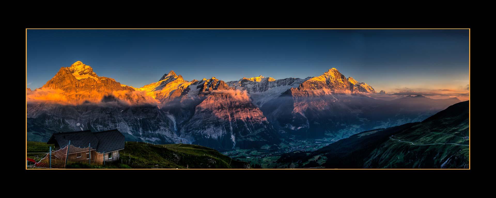 Postkarten - Alpenglühen