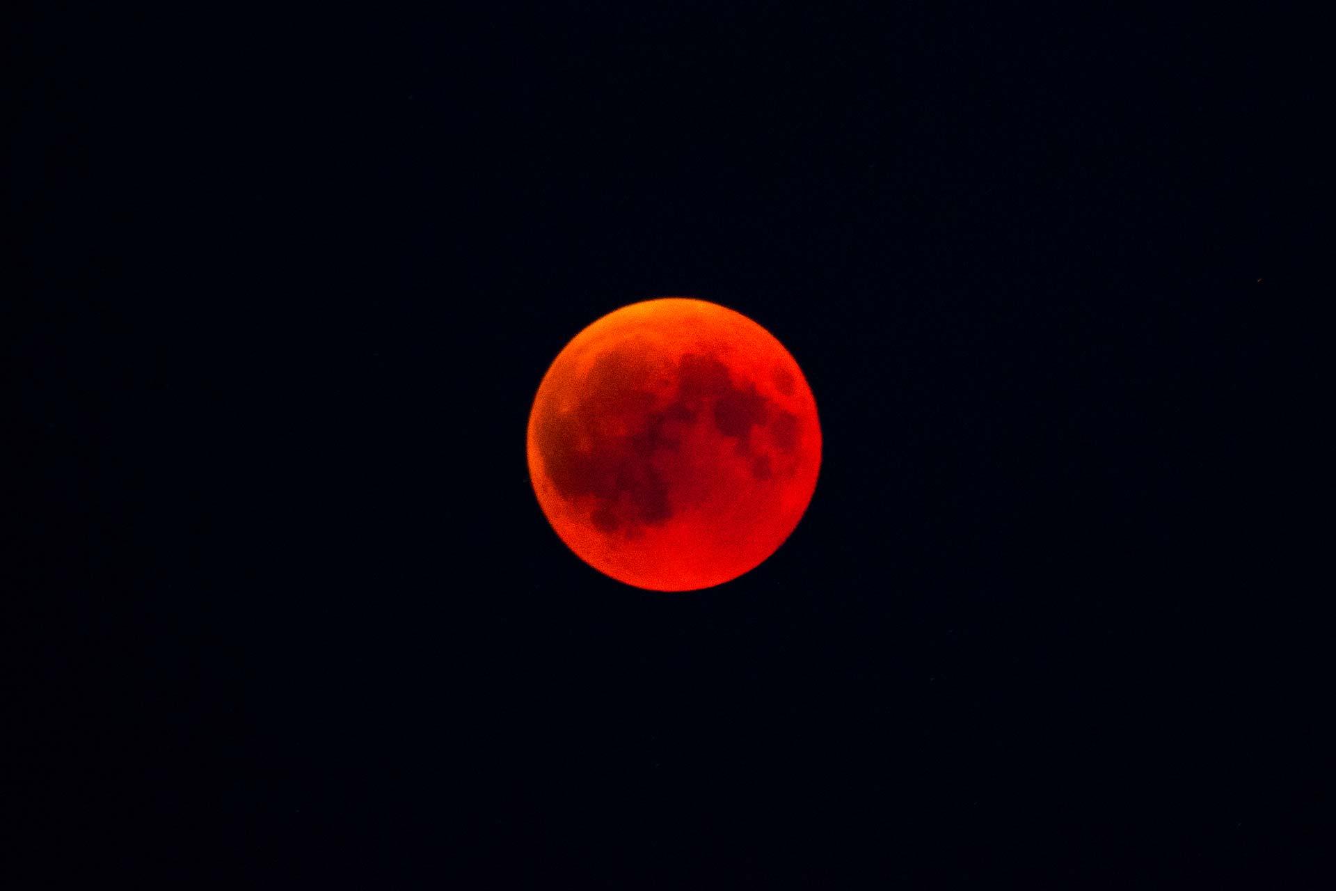 Nachtfotografie - Blutmond