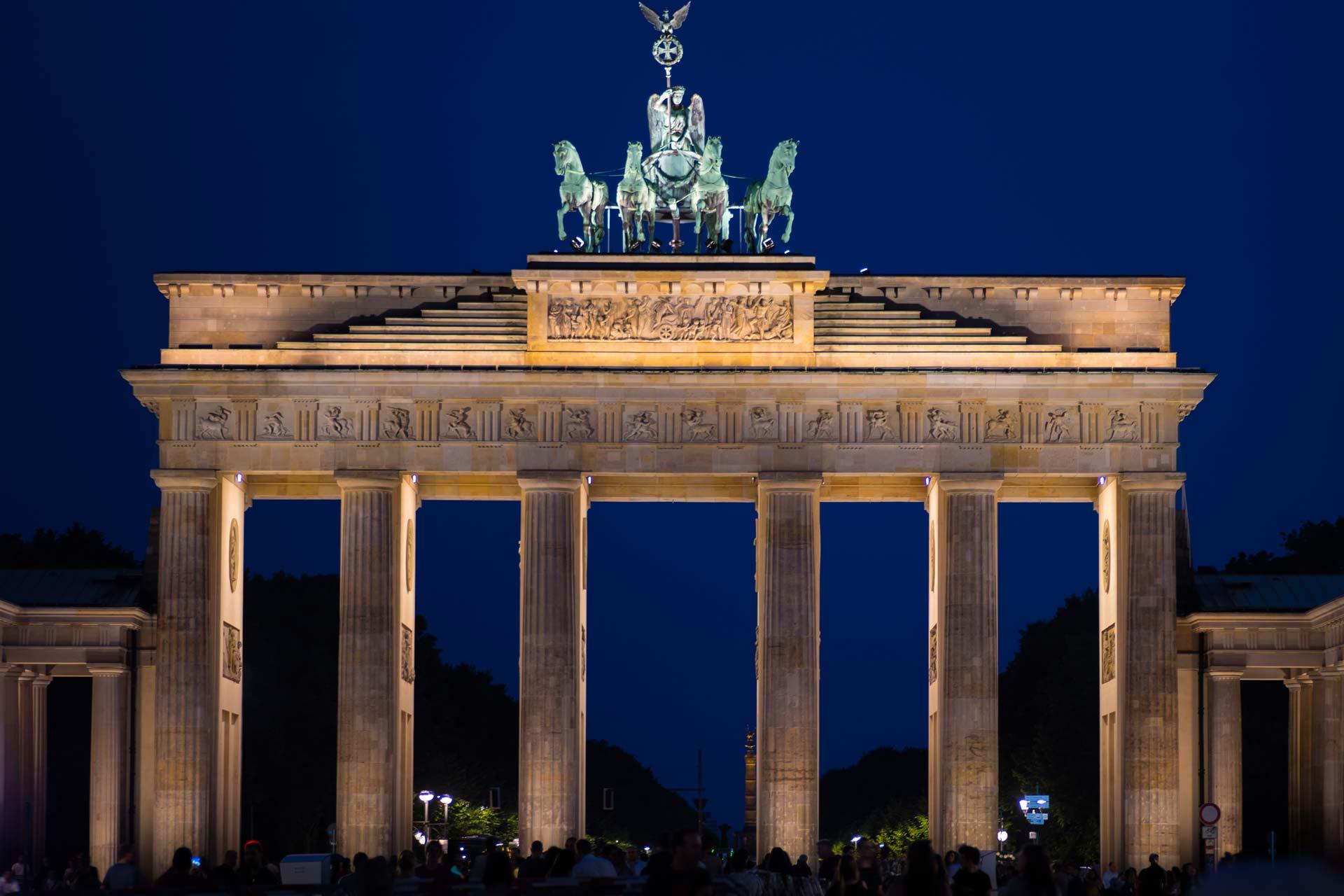 Nachtfotografie - Brandenburger Tor