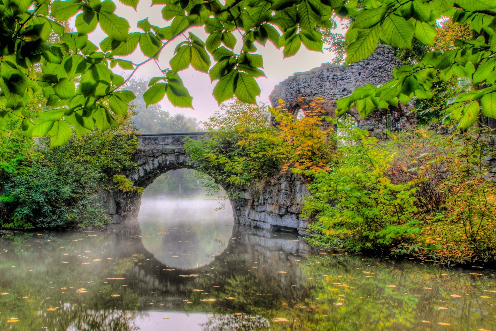 Landschaftsfotografie - Brücke und Fluss