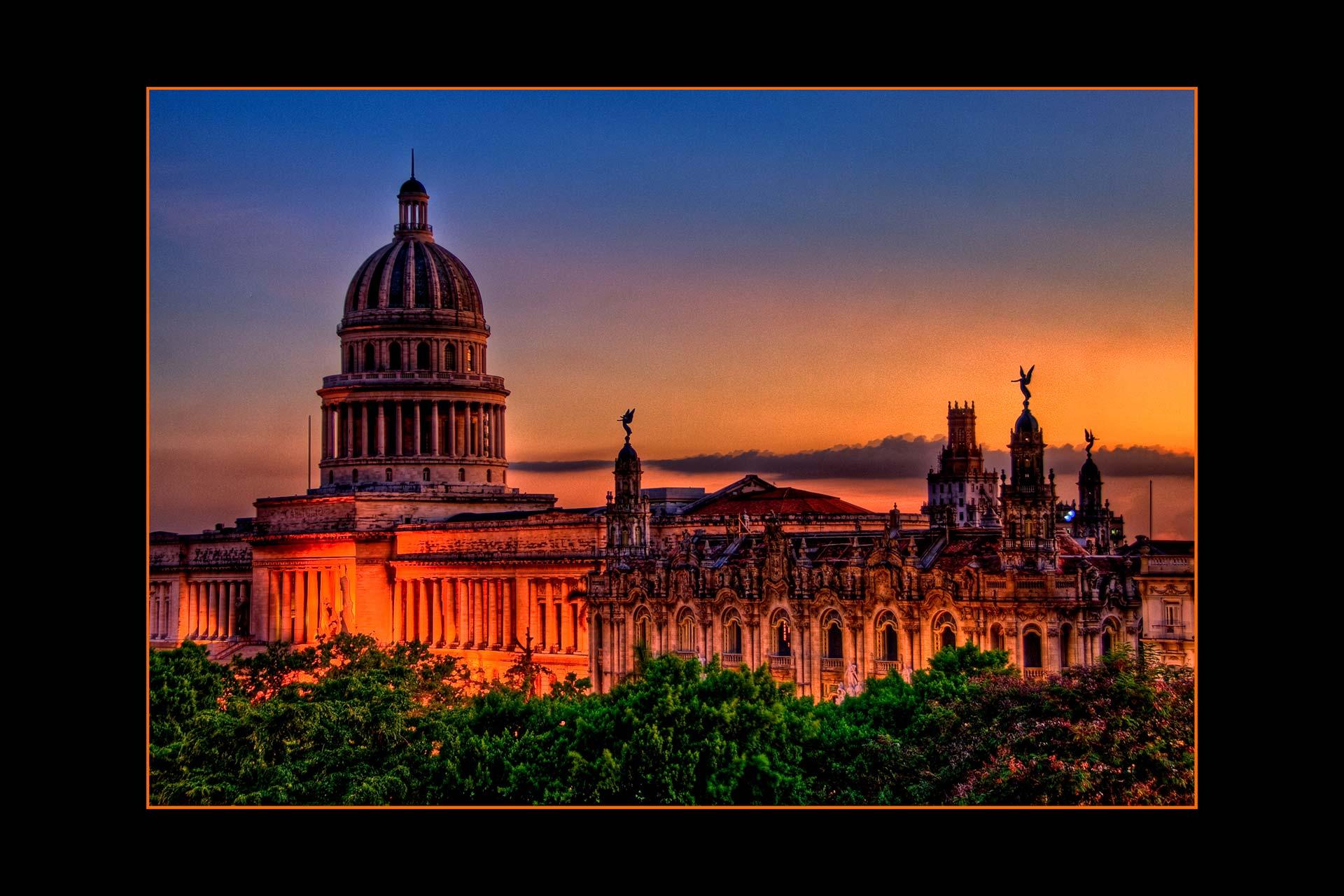 Postkarten - Capitolio von Havanna