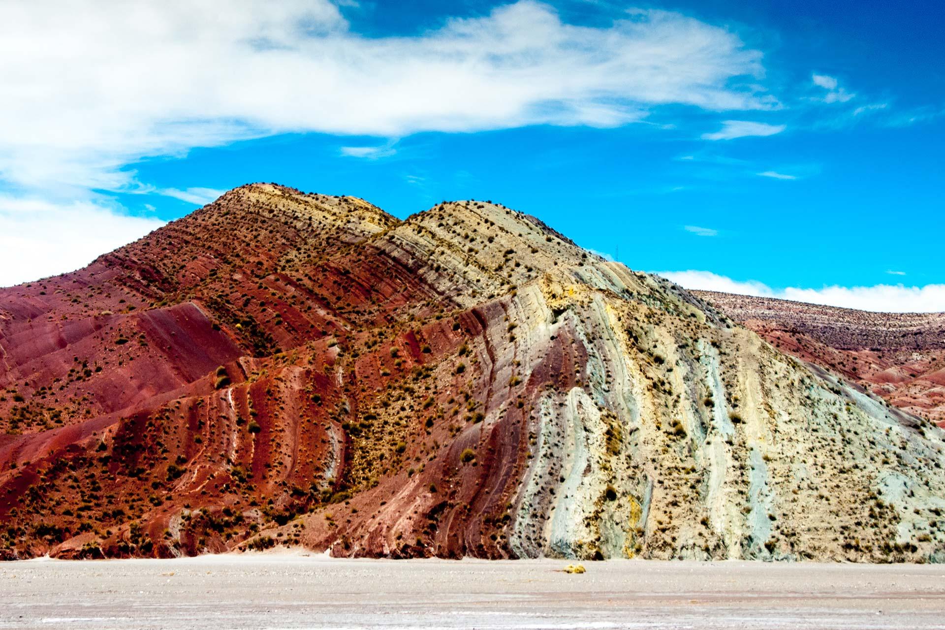 Landschaftsfotografie - Vielschichtiger Berg in Chile