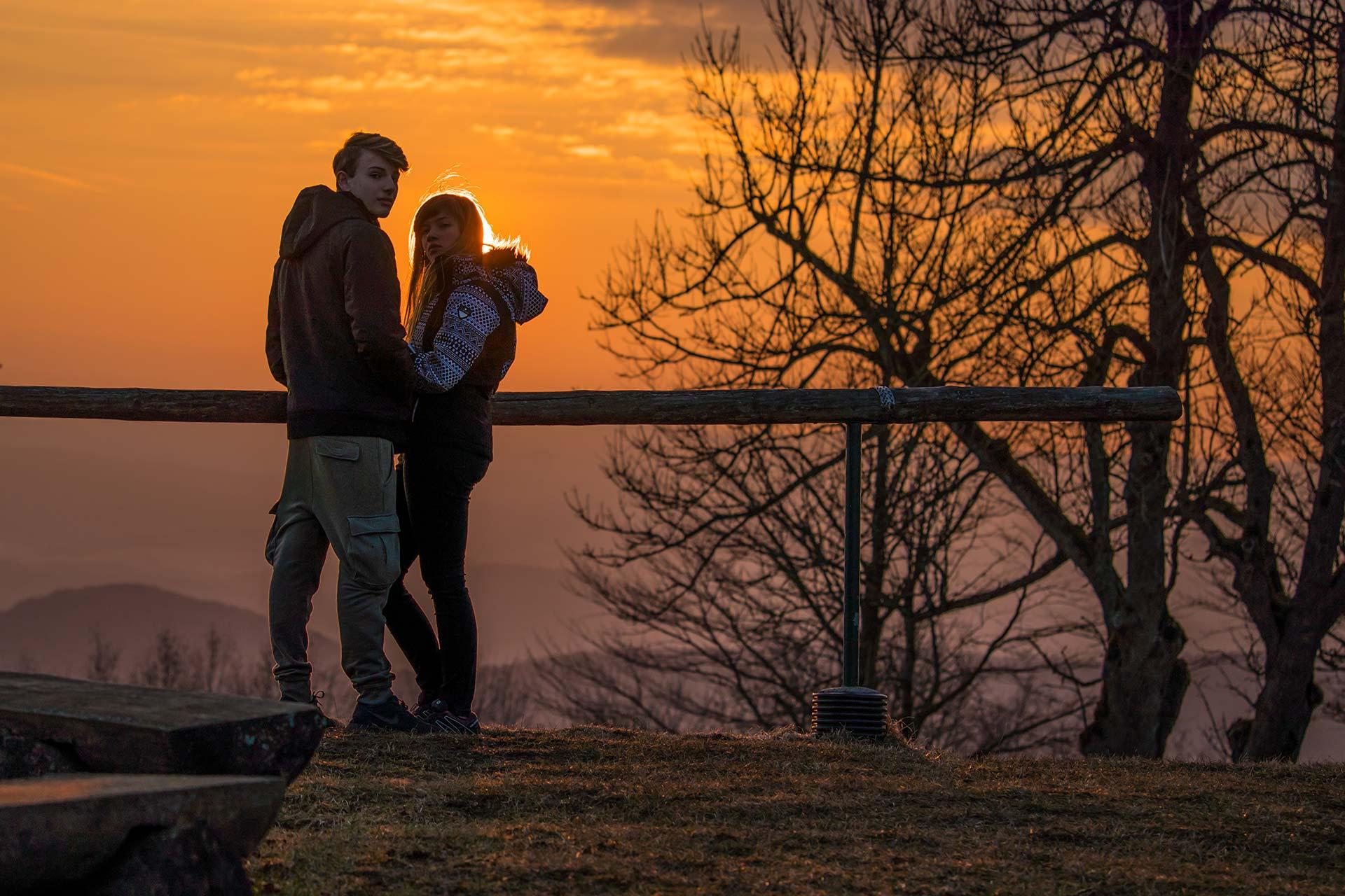 Portraitfotografie - Pärchen bei Sonnenuntergang