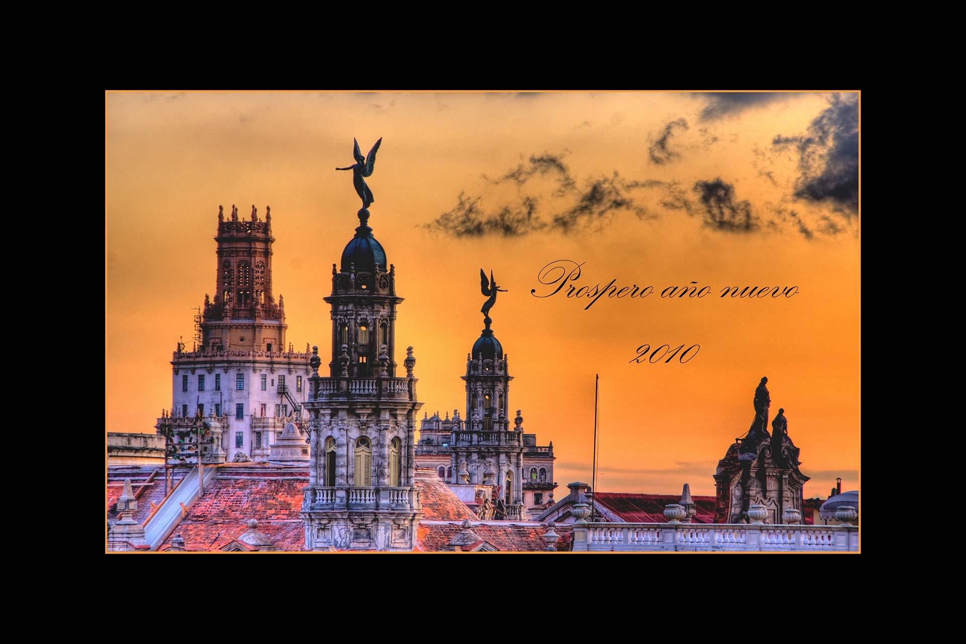 Postkarten - Engelsstatuen von Havanna