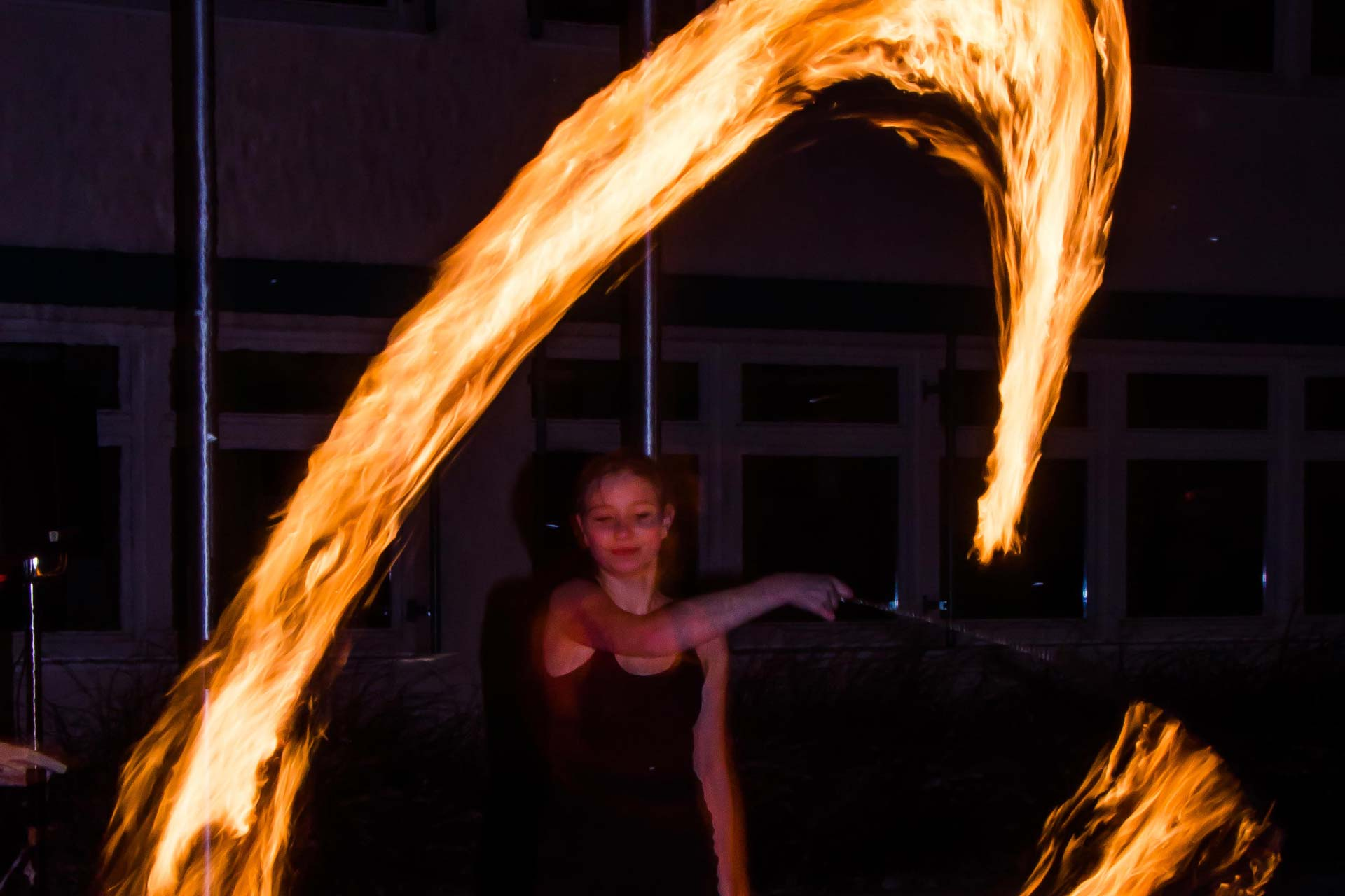 Nachtfotografie - Feuershow