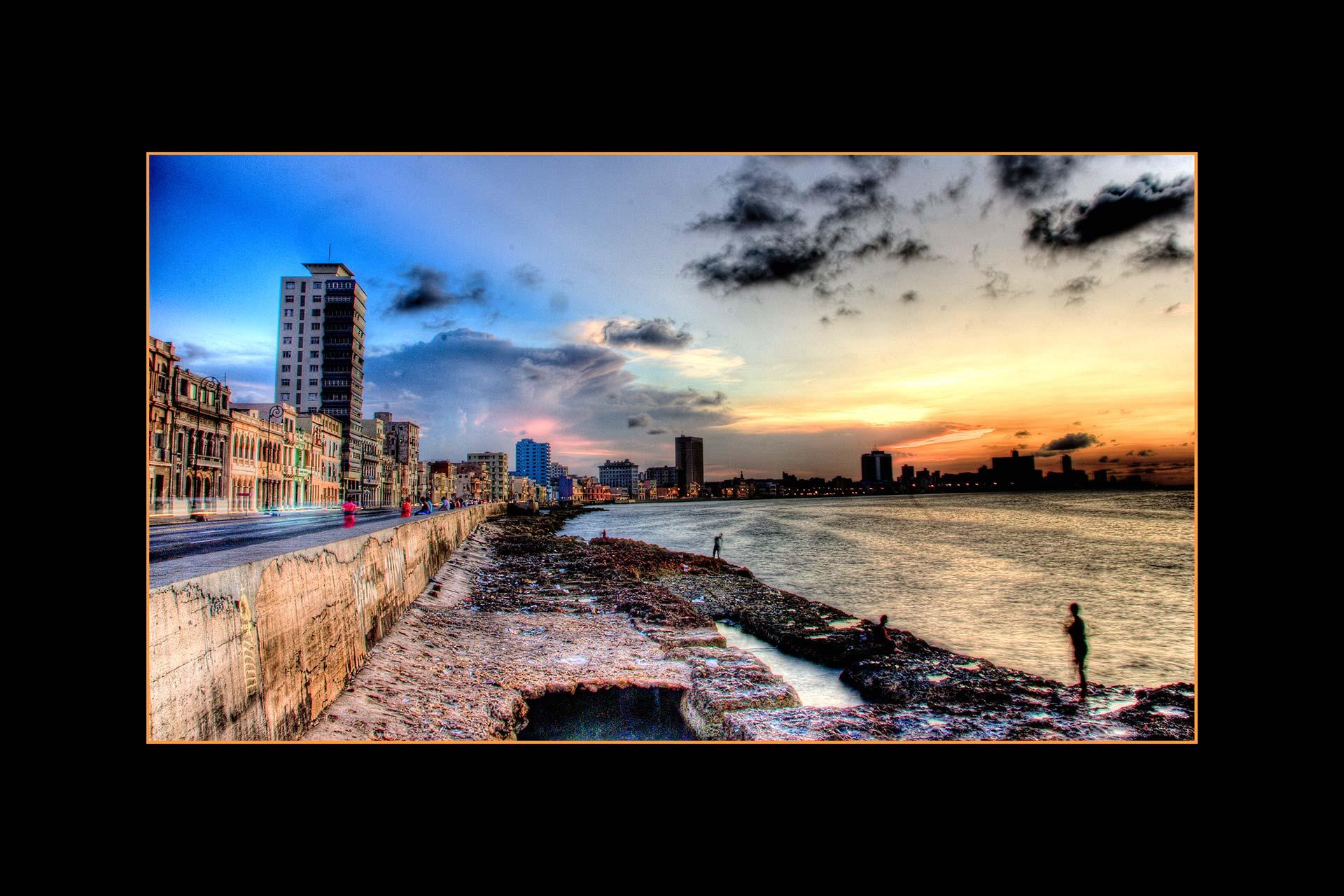 Postkarten - Malecon Havanna