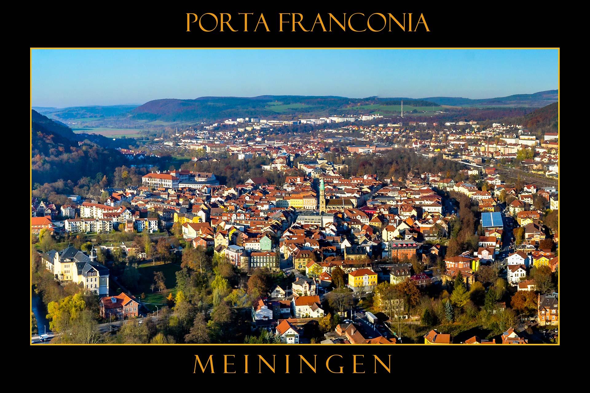 Postkarten - Meiningen, Porta Franconia