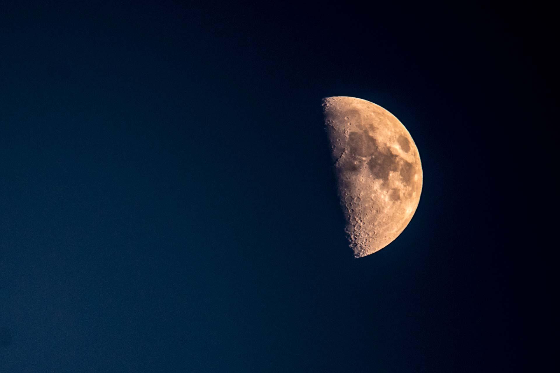 Nachtfotografie - Halbmond