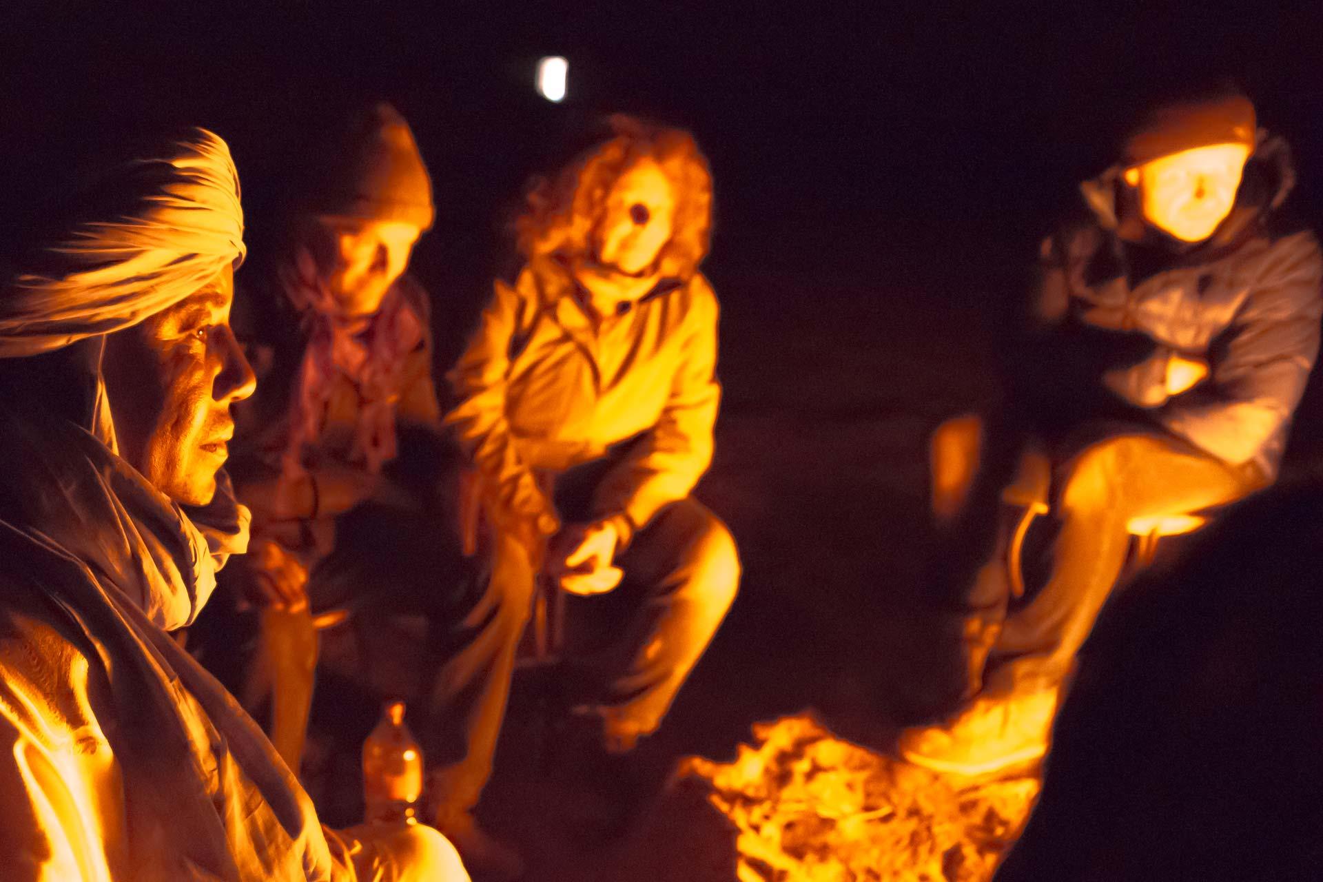 Reisefotografie - Lagerfeuer in der Sahara