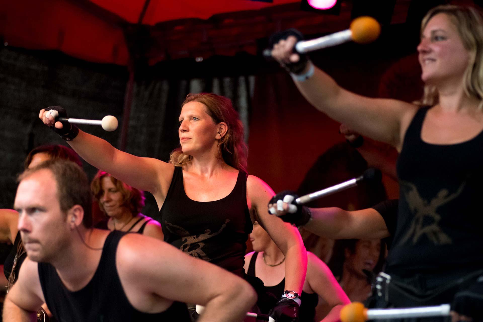 Eventfotografie - Gruppenfoto von Trommelspielern