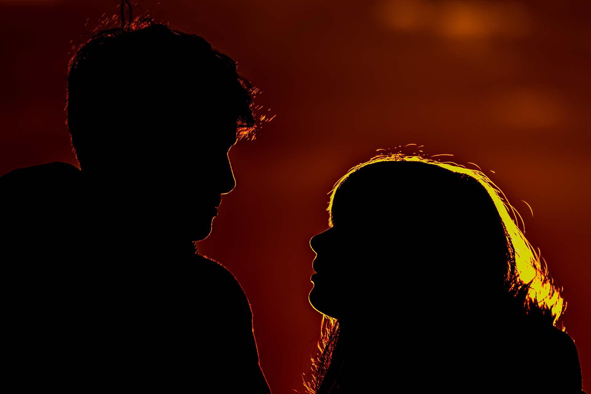 Portraitfotografie - Silhouette eines Paars
